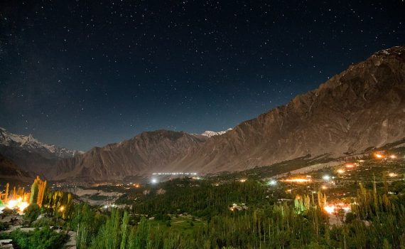 Night View of Hunza Valley